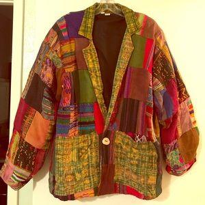 Jackets & Blazers - Patchwork Guatemalan Jacket